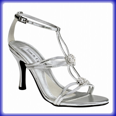 Alana Silver High Heel Evening Shoes