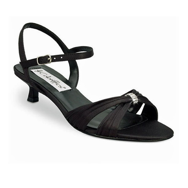 Satin Low Heel Evening Shoes