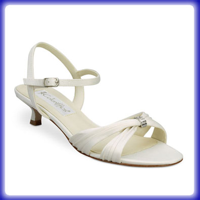 Andie Ivory Low Heel Bridal Shoes