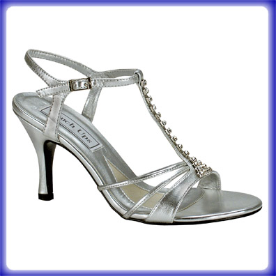 Anneka Silver High Heel Evening Shoes