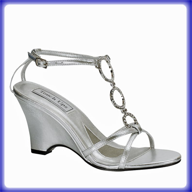 Arlene Silver Mid Heel Evening Shoes