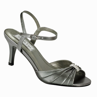 Aspen Pewter Mid Heel Evening Shoes