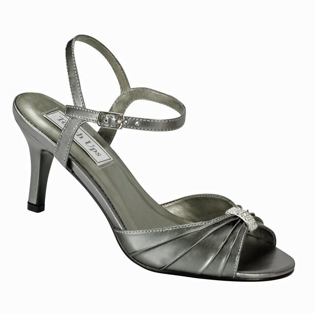 Black Evening Shoes Mid Heel
