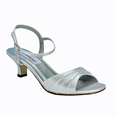 Brielle White Satin Bridal Shoes