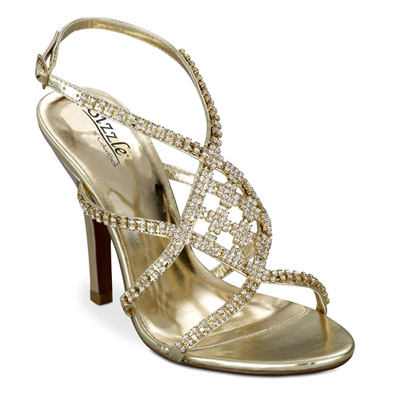Broadway Gold Sky High Evening Shoes