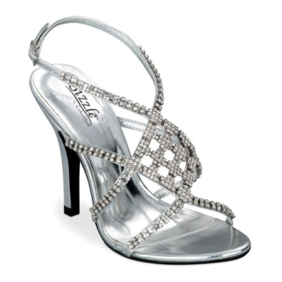 Broadway Silver Sky High Evening Shoes