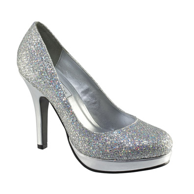 Candice Silver Sky Hi Heel Evening Shoes