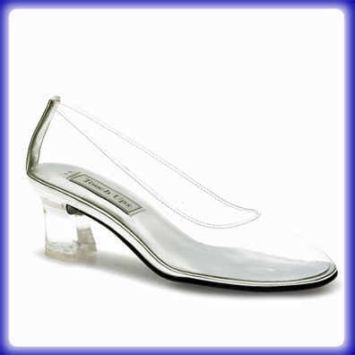 Cinderella Clear Mid Heel Evening Shoes