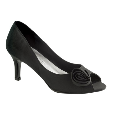 Dakin Black Mid Heel Evening Shoes