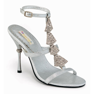 Emory Silver High Heel Evening Shoes