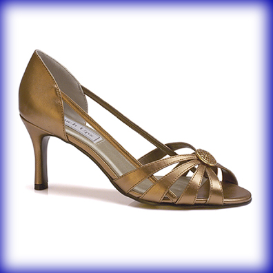 Gemini Bronze Mid Heel Evening Shoes