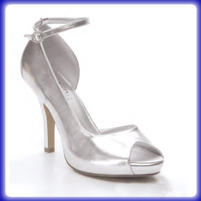 Gwen Silver Metalllic Sky High Heel Evening Shoes