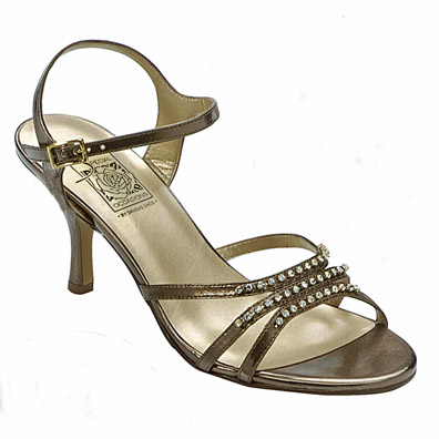 Jessy Bronze High Heel Evening Shoes