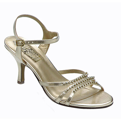 Jessy Gold High Heel Evening Shoes