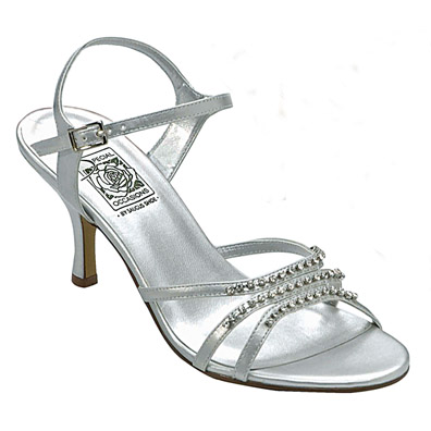 Jessy Silver High Heel Evening Shoes