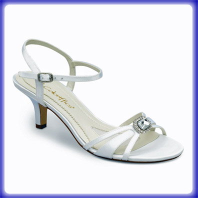 Jordan Dyeable White Satin Bridal Shoes