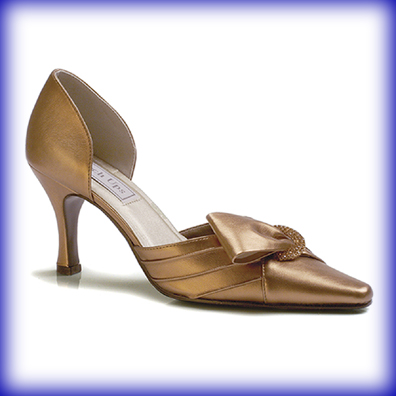 Katrina Bronze Mid Heel Evening Shoes
