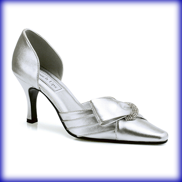Katrina Silver Mid Heel Evening Shoes