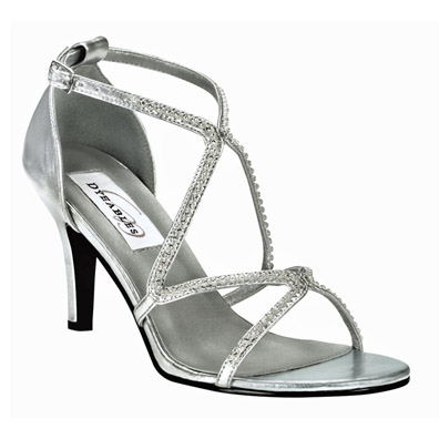 Kendra Silver Mid Heel Evening Shoes