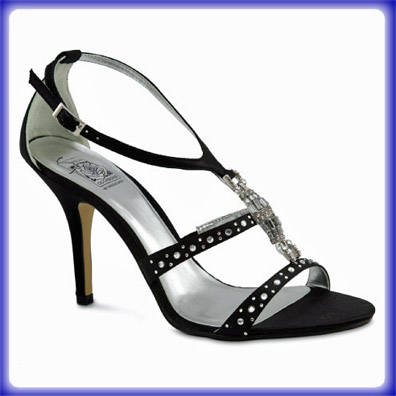 Lara Black Sky High Heel Evening Shoes