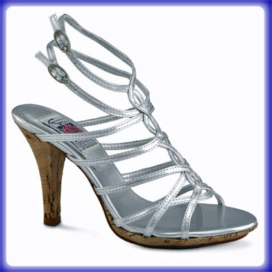 Leah Silver Sky High Heel Evening Shoes