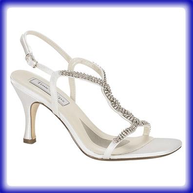 White Satin Wedding Shoes 10