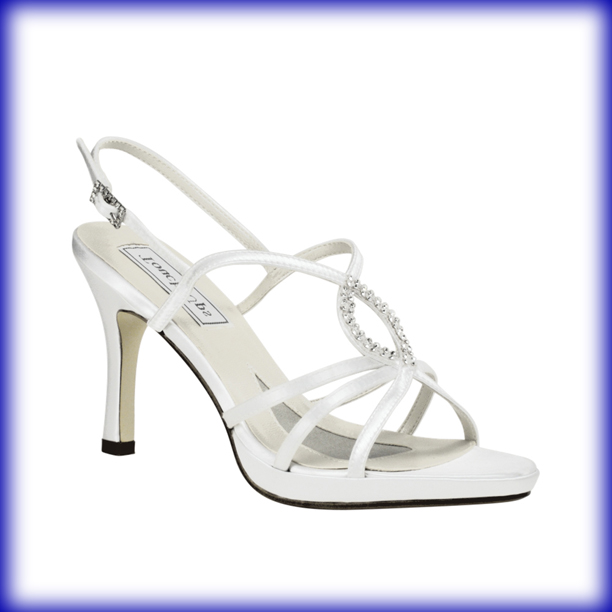Logan White Satin High Heel Bridal Shoes