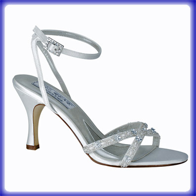 Madelyn White Silk Satin Bridal Shoes