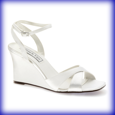 Madison White Satin High Heel Bridal Shoes