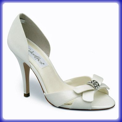 Maya Ivory Satin High Heel Bridal Shoes