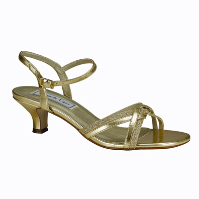 Low Heel Gold Evening Shoes from Trendy Sandals to Classic Pumps