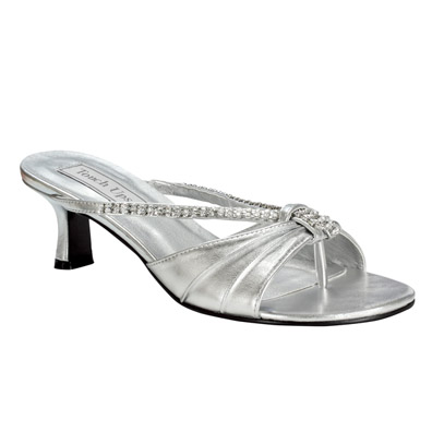 Wide Width Low Heel Evening, Bridal, and Prom Shoes
