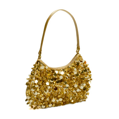 Quincy Gold Evening Handbag