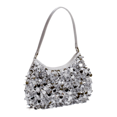 Quincy Silver Evening Handbag
