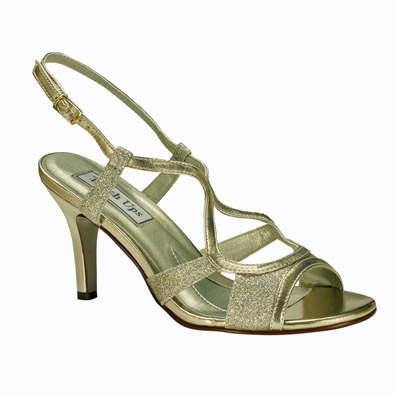 Renee Gold Heel Evening Shoes