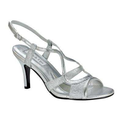 Renee Silver Heel Evening Shoes