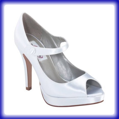 Royal White Satin Sky High Heel Evening Shoes