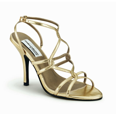 Runway Gold High Heel Evening Shoes