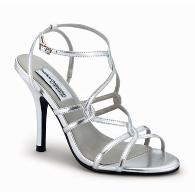 Runway Silver High Heel Evening Shoes