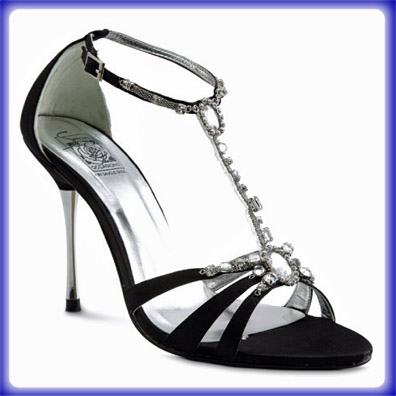 Shakira Black Sky High Heel Evening Shoes