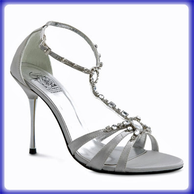 Shakira Silver Sky High Heel Evening Shoes