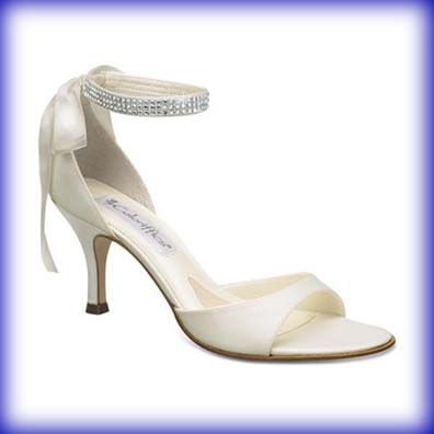 Sierra Ivory Mid Heel Evening Shoes